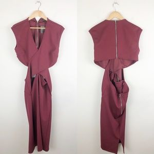 NWT Topshop Midi Crossover Dress